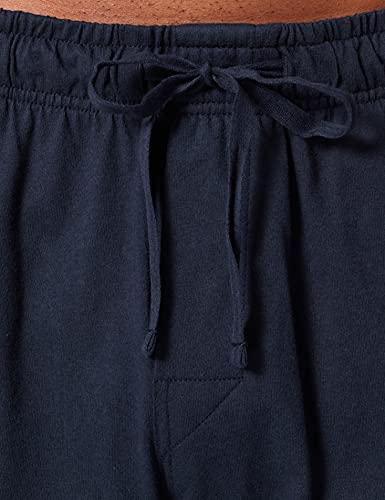 Schiesser Mix & Relax Lang Bündchen Pantalones de Pijama, Azul (Dunkelblau 803), 62 (Talla del Fabricante: 5XL) para Hombre