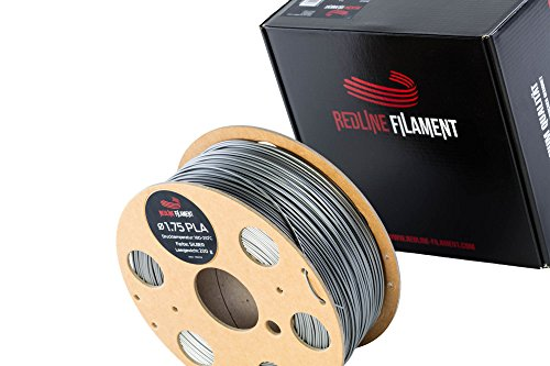 Filament 1.75 PLA 1 kg for your 3D Printer - Hard Cardboard Spool - Premium Quality from Holland (Silver)