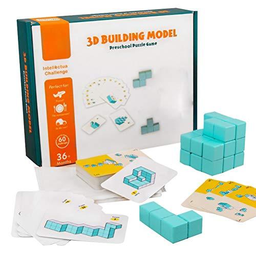 BSOA 3D-Gebäudemodelle, Bausteine, Puzzle-Würfel-Spiel, Thinking Tabletop Assembling-Brettspiel