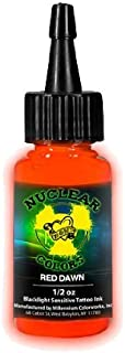 Millennium Mom's Nuclear UV Tattoo Ink .5 Ounce Red Dawn Ultra Violet Color 1/2 oz by Millennium Mom's