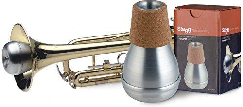 Stagg MTR-P3A Kompakter Übungsdämpfer für Trompete