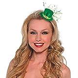 """amscan Mini Leprechaun Hat Hair Clip, 2.3"""" x 2.3"""", Green"""