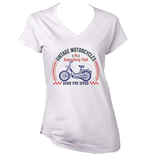 Teesandengines Benelli g2 pedali Vintage Motorcycles Camiseta para Mujer de Algodon Size Small