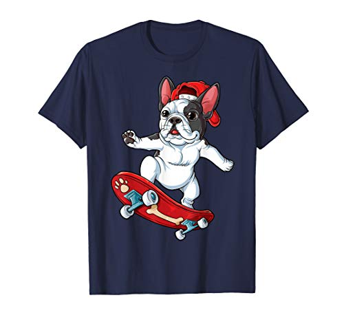 Französische Bulldogge Skateboard T shirt Skateboarding Hund T-Shirt
