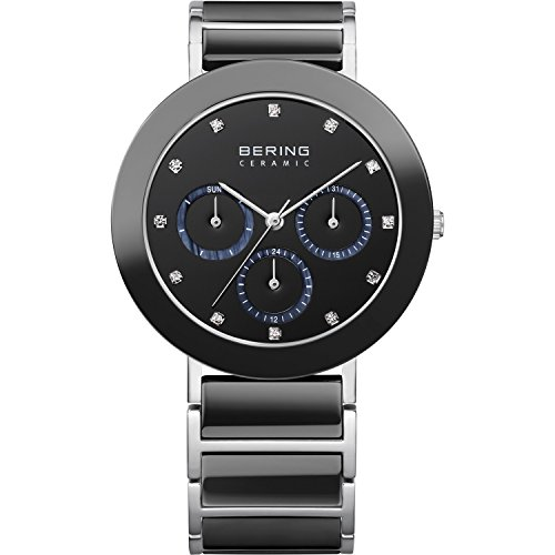 BERING Damen-Armbanduhr Analog Quarz Edelstahl 11438-742