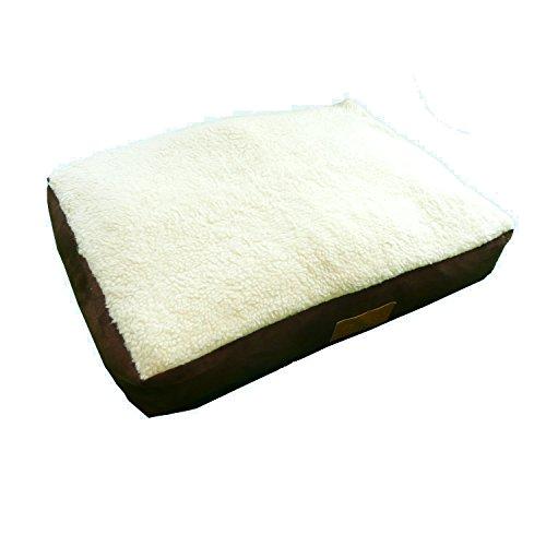 Ellie-Bo - Cama para Jaula de Perro con Forro de Piel de Oveja, tamaño Medio 76,2 cm