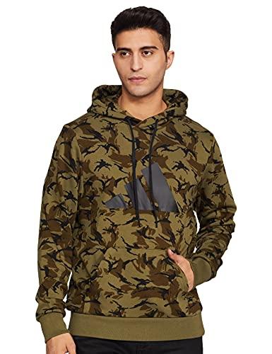 Adidas Men's Cotton M Fi Camo Hoody Sweatshirt (Ha5834_Xs, Multco/Focoli, Xs)