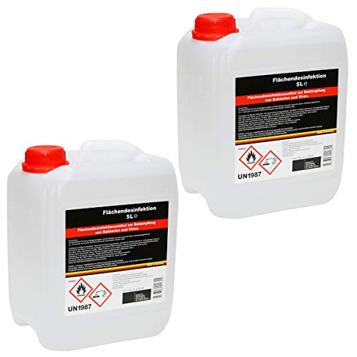 Desinfektionsmittel 10 L | gegen Keime, Bakterien und Pilze | MADE IN GERMANY | Desinfektions-Reiniger Sauna Bad Solarium Fitnessstudio | hochwertig Ethanol Chloride n-Propanol |