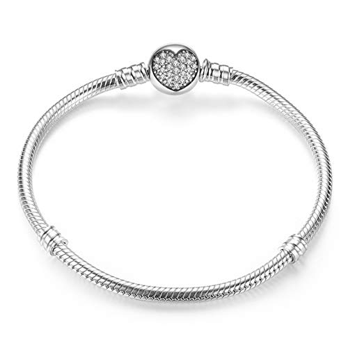 Pulseras Genuine Bracelet Silver 925 Jewelry Snake Chain Bangle & Bracelet Silver 925 Original Jewelry Valentine Gift HJS902 HJS916 20 cm