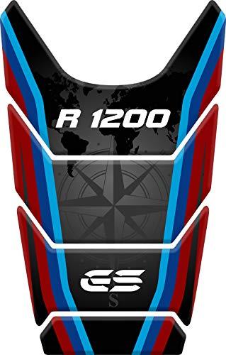 PARASERBATOIO ADESIVO, RESINATO EFFETTO 3D compatibile con BM.W R1200 GS 2008-2012, R 1200 (Black/Red/Blue)