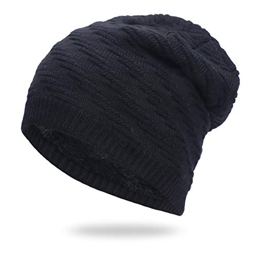 Liaiqing Men's & Women's Autumn & Winter Windproof & Warm Fashion Hedging Thick Wool Plus Fleece Hood Riding Ski Outdoor Sports Cap Comfortable Ear Protection Knitted Hat Outdoor Hat (Color : C)