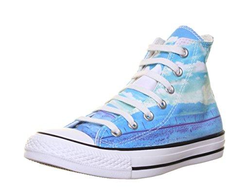 Converse Sneaker Alta all Star Hi Can Graphics Azzurro/Bianco EU 39