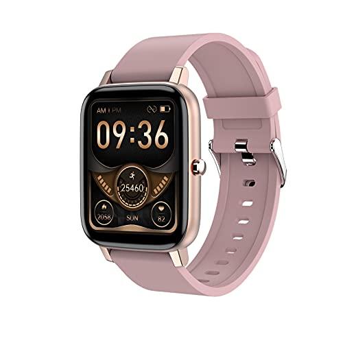 YWS 2021 H80 Smart Watch Hombre Ejercicio Tarifa Cardíaca Rastreador De Fitness 1.69 Pulgadas Pantalla Táctil Smartwatch Mujer Bluetooth Reloj Impermeable para iOS Android Teléfono,C