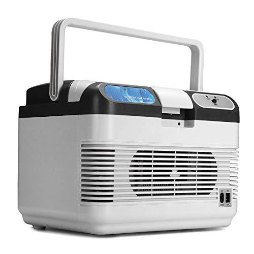 Dxyap 12 Liter 2in1 Kühlbox   EEk A++   12 Volt und 220 Volt   Kühltasche   Auto Camping Outdoor Kühlbox & Warmhaltebox   Tragegriff  AC&DC