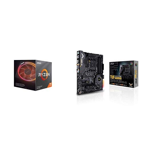 AMD Ryzen 7 3700X Processor (8C/16T, 36MB Cache, 4.4 GHz Max Boost), and ASUS X570-Plus (WiFi) Motherboard