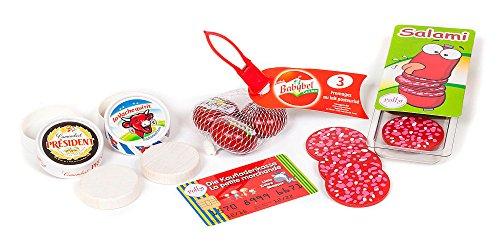 Polly Kaufladen Wurst und Käse | Kaufmannsladen Zubehör für Kinder | Spielzeug Lebensmittel Set Kinderkaufladen