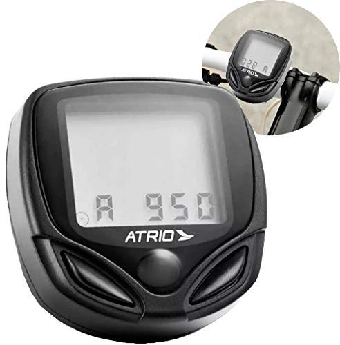 Ciclocomputador Atrio com Suporte 15 funções Material em PC e EPS Preto - BI043