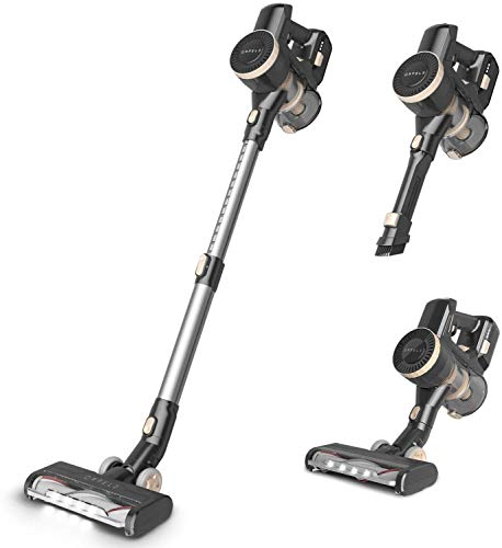 ORFELD Cordless Vacuum, 22000Pa Hurricane Suction Stick Vacuum 4 in 1, 45 mins Runtime, Dual Hepa Filtration Vacuum Cleaner