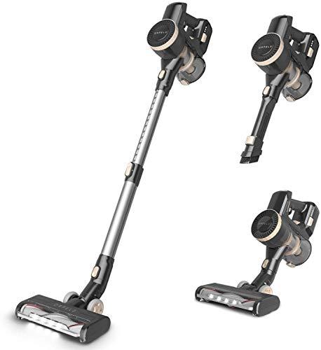 ORFELD Cordless Vacuum, 22000Pa Hurricane Suction Stick Vacuum 4 in 1, 45 mins Runtime, Dual Hepa Filtration Vacuum Cleaner