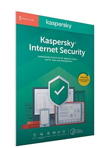 Kaspersky Internet Security 2020 Standard | 5 Geräte | 1 Jahr | Windows/Mac/Android | Aktivierungscode in frustfreier Verpackung
