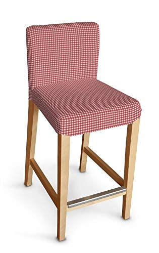 Dekoria Henriksdal Husse für Barhocker Husse Stuhlbezug,Stuhlkissen passend für IKEA Modell Henriksdal rot-Ecru