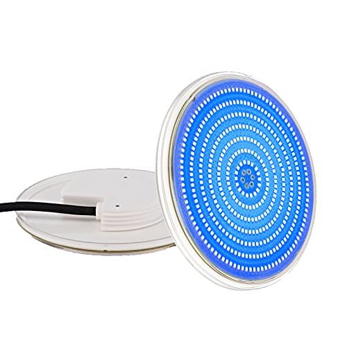 LyLmLe Foco LED Piscina Relleno de Resin, PAR56 35W Lámpara de piscina LED Azul Puro, 1050lm, Ángulo de haz de 140 °,IP68 Impermeable, 12V AC/DC