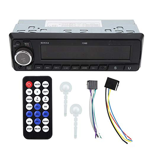 Lettore MP3, autoradio audio Bluetooth 4.0 FM radio ingresso AUX U Disk Card Lettore MP3 con telecomando