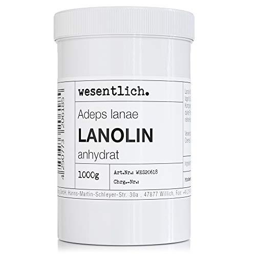 Lanolin Wollfett anhydrat 1000g - wasserfrei und kaum Geruch - Wollwachs von wesentlich.