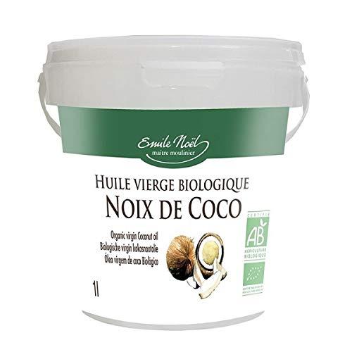 Emile Noel - Huile de coco vierge 1L - Lot De Lot De 2 - Vendu Par Lot - Livraison Gratuite En France