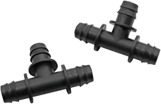 HONGTAI 13mm Barbed Tee Three Way Garden Water Connectors For DN 16 Pipe Home Garden Irrigation Watering System Connection...