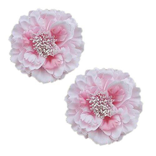 Décoration élégante de cheveux de clip de cheveux de fleur 2PCS pour les dames, Rose clair