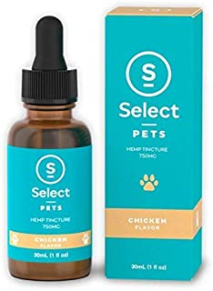 Select Hemp Oil Drop for Cats and Dogs 30ml 750mg (Chicken)