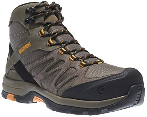 Wolverine Men's Fletcher Waterproof CarbonMax EH Hiking Boots, Taupe Leather, 11 EW