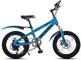Xiaoyue Fahrräder Jungen-Mädchen-Fahrrad 18 Zoll Studenten Speed Bike 7-Gang Mountainbike 3~15 Jahre alt Studenten Fahrrad (Farbe: Grün, Größe: 18 Zoll) lalay (Color : Blue, Size : 18 inches)