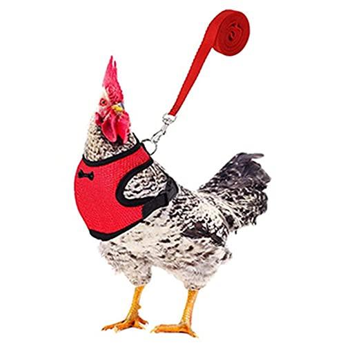 Arnés para gallina, arnés para pollo, ajustable, correa para animales domésticos, con correa elástica cómoda y transpirable, para animales domésticos para pato, gan, pasear