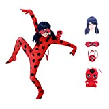 Halloween Cosplay Cute Girls Costumes Baby Little red Beetle Suit 3-10 Year (L)