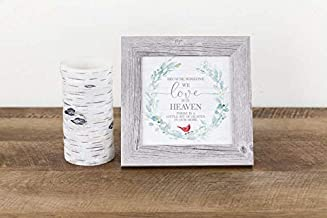 Because Someone You Love is in Heaven Tree Home Cardinal Ivy Funeral Sympathy Framed Decor Art Picture Sign