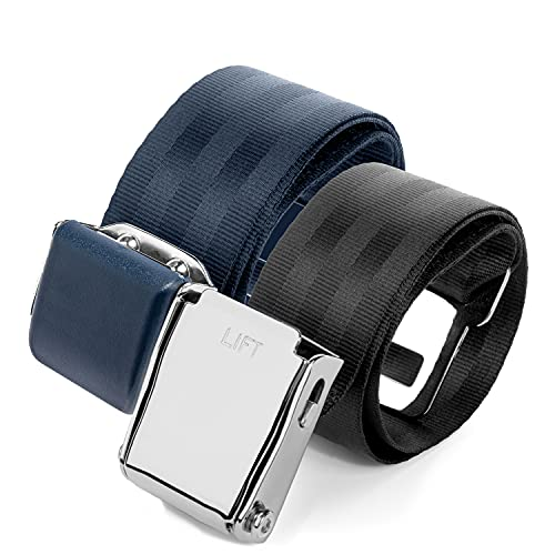 2 Mirone Adjustable Airplane Seat Belt Extenders Extension for All Airlines (7-32 Inch), E-9 Safety Certified (Type A & B)