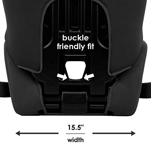 Diono Cambria 2 Latch, 2-in-1 Belt Positioning Booster Seat, High-Back to Backless Booster XL Space and Room to Grow, 8 Years 1 Booster Seat, Ultimate Safety and Protection, Black