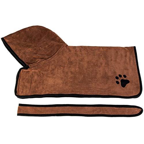 ZHDIN Toalla de baño suave para perros de mascotas de secado rápido Toalla para mascotas Albornoz de alta absorción de agua de microfibra de fibra de tela caliente para perros suministros