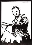 Póster Rick Grimes The Walking Dead Grafiti Hecho a Mano - Handmade Street Art - Aesthetic Artwork