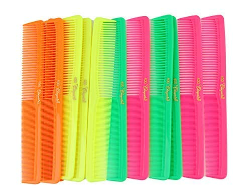 Price comparison product image 7 inch All Purpose Hair Comb. Hair Cutting Combs. Barbers & Hairstylist Combs. Neon Mix. 12 Units.