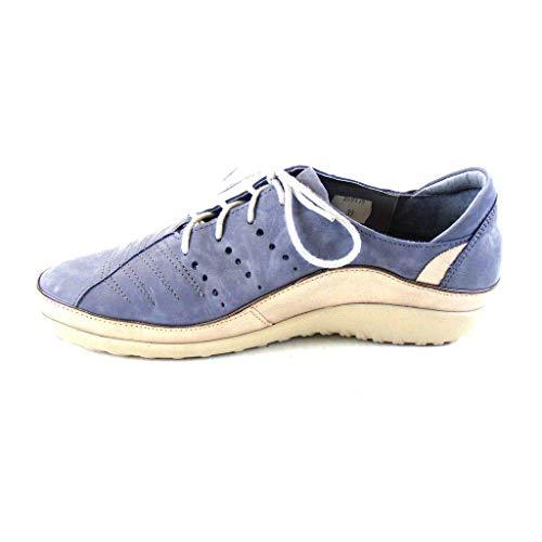 NAOT Footwear Women's Kumara Lace-up Shoe Feathery Blue Nubuck/Stardust 11 M US