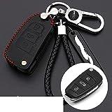 ZSDEW Smart Key Case Cover , Car Key Cover Cuero Suave Auto Key Protection Cover Case Car Holder Car-Styling, para Audi C6 A7 A8 R8 A1 A3 A4 A5 Q7 A6 C5Estilo 2