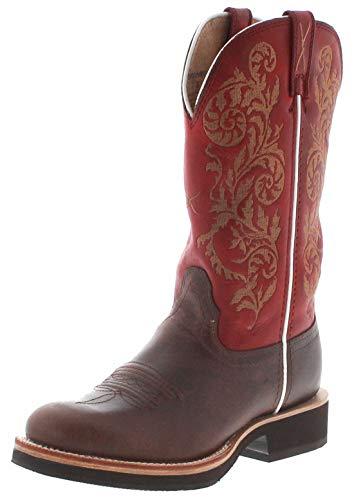 Twisted X Boots Damen Cowboy Stiefel 1711 Saddle Westernreitstiefel Lederstiefel Damenstiefel Braun 39 EU