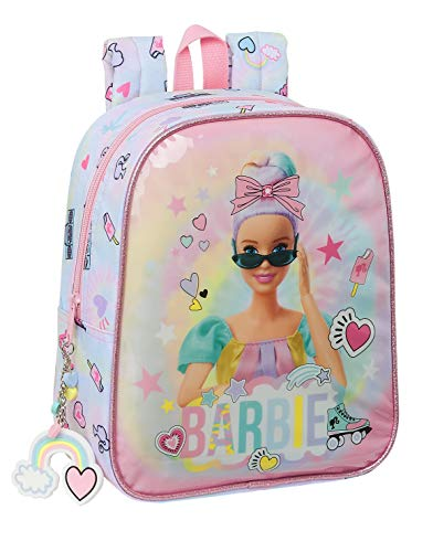 safta 612110232 Mochila Infantil de Barbie Girl Power, 220x100x270mm