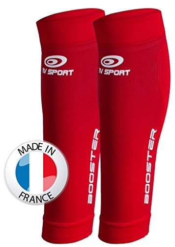 BV Sport Booster One Paire de Manchons Rouge Taille M+