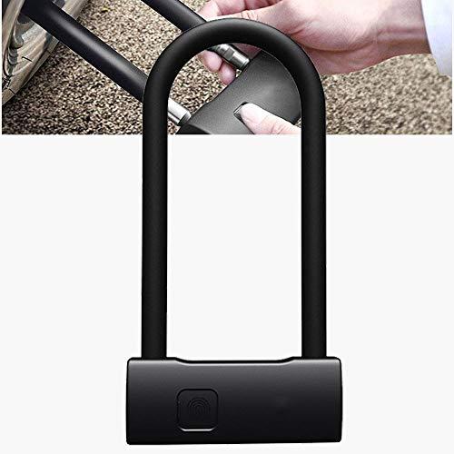 TERMALY Smart Fingerprint Bügelschloss Fahrradschloss Fahrrad Motorradschloss für Fahrrad mit Type-C Anschluss für Fahrrad Elektrofahrrad Zubehör,Long