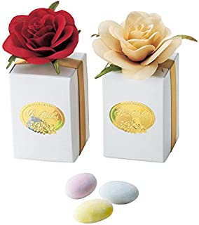 《アムールルージュ》薔薇ボックスのプチギフトドラジェ3粒入り(1個)【結婚式 ホワイトデー イベント】