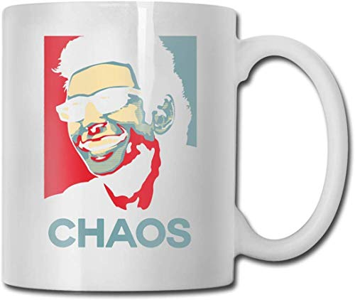 Taza Ian Malcolm Chaos Theory Jurassic Park Hope Cups 11OZ Diseño impreso Taza de café divertida Tee Cup